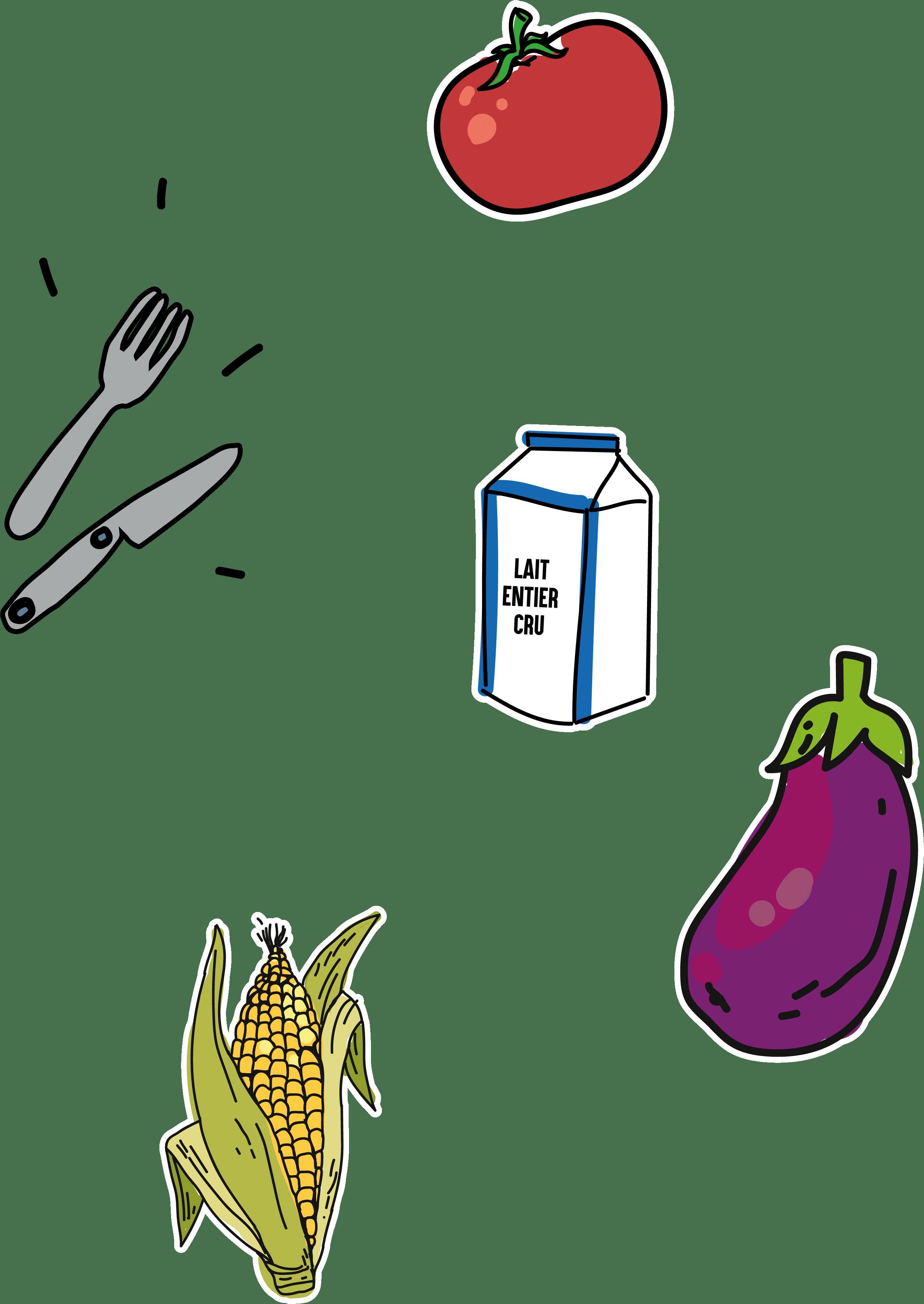 icones fruits et légumes locaux