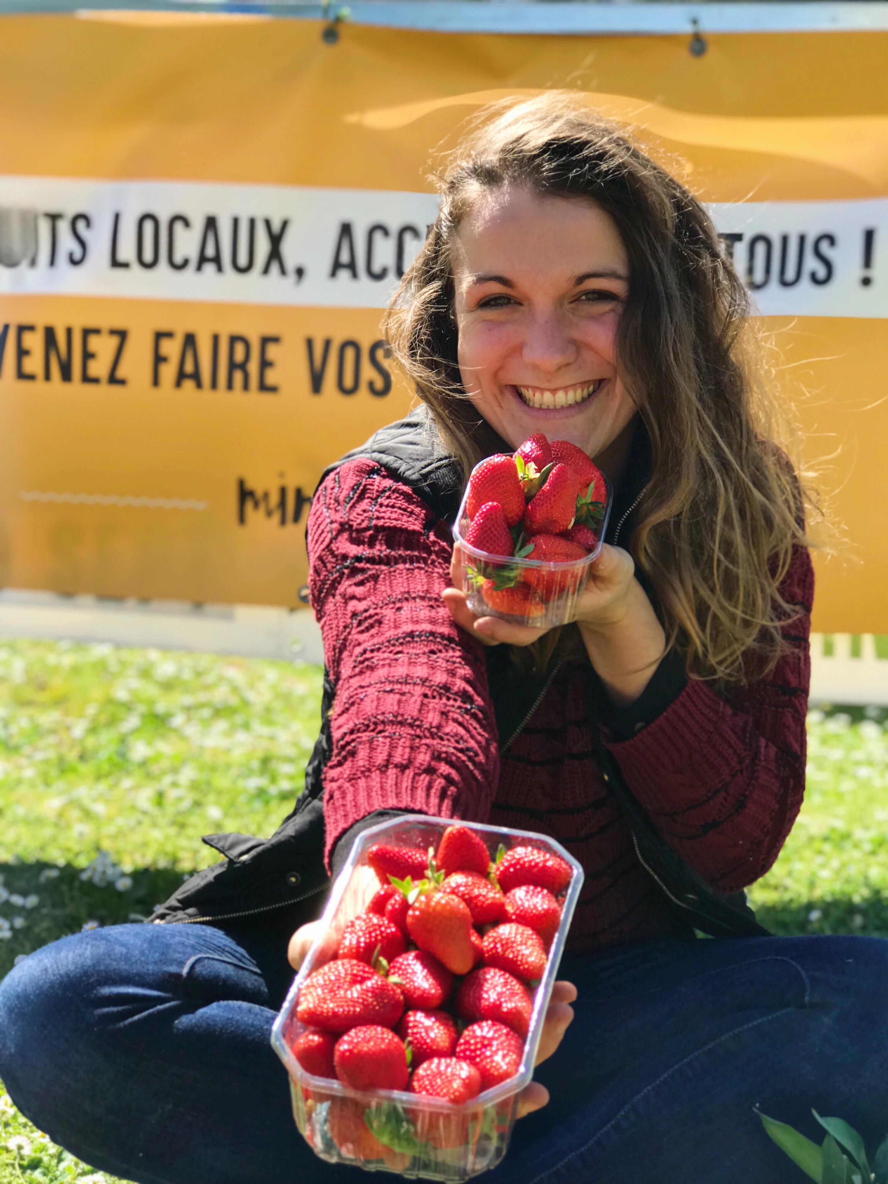 Marie minjat fraises