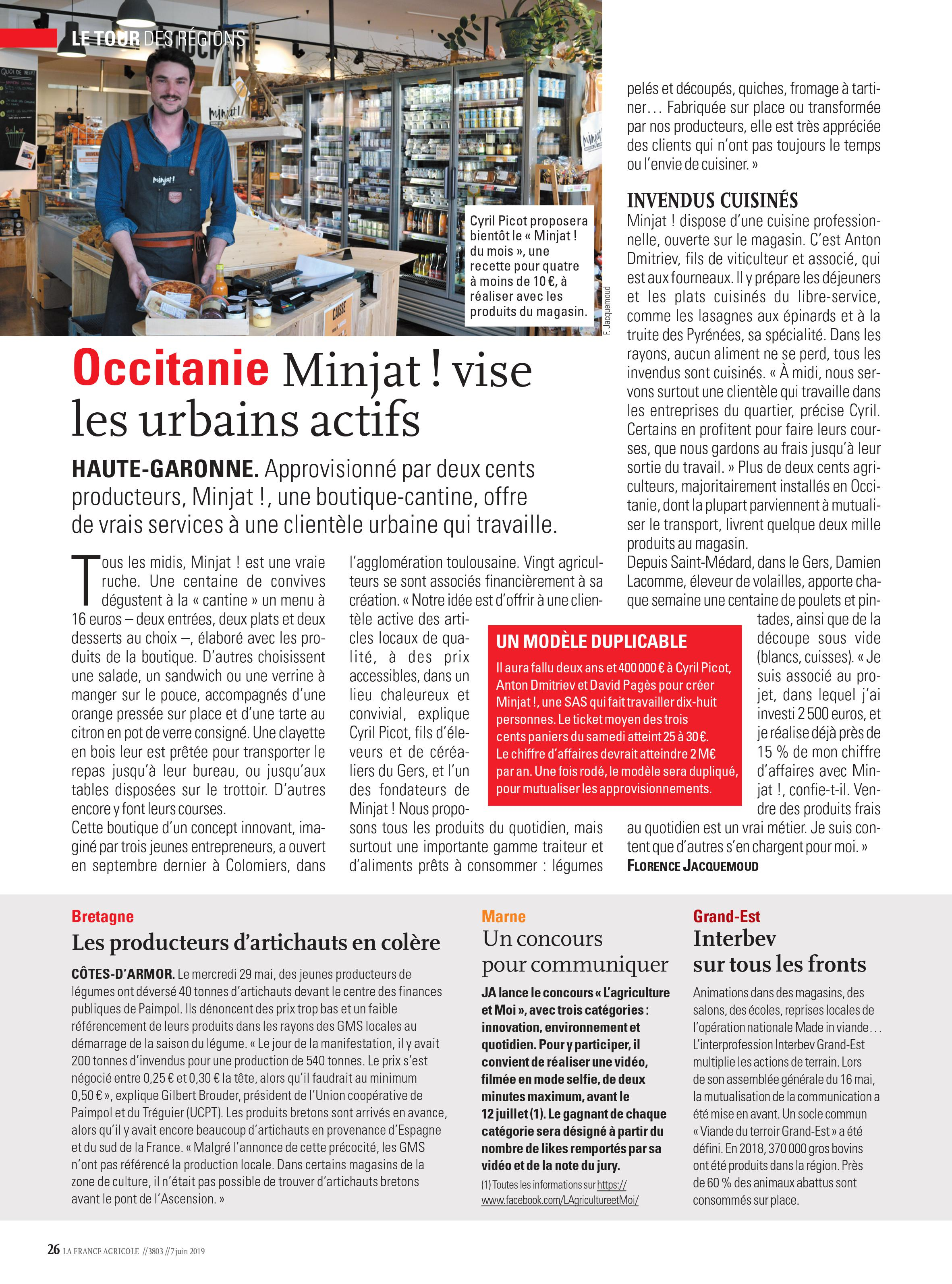minjat france agricole article