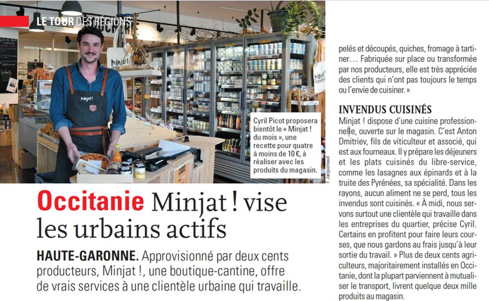 FranceAgricole.fr – Minjat! vise les urbains actifs