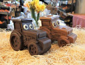 tracteur chocolat artisanal Pâques produits locaux Minjat! Colomiers